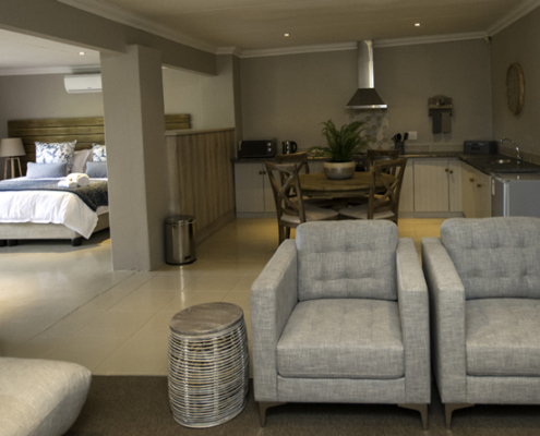 Luxury, Self-Catering Suite Seating Area